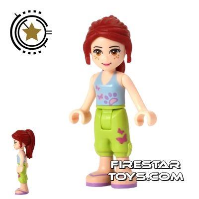 LEGO Friends Mini Figure - Mia - Lime Shorts