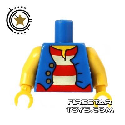 LEGO Mini Figure Torso - Pirate - Striped Vest