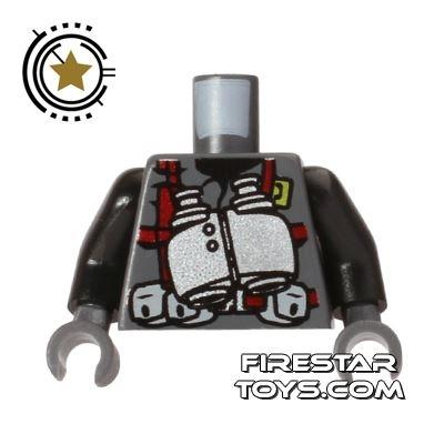 LEGO Mini Figure Torso - Dino Vest - Binoculars