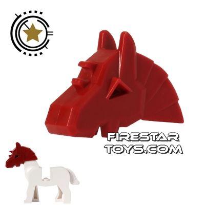 LEGO - Horse Battle Helmet - Dark Red