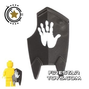 LEGO -  Lord of the Rings Orc Handprint  Shield - Pearl Dark Gray