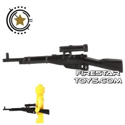 CombatBrick - WWII Russian Mosin-Nagant Sniper Rifle - Black