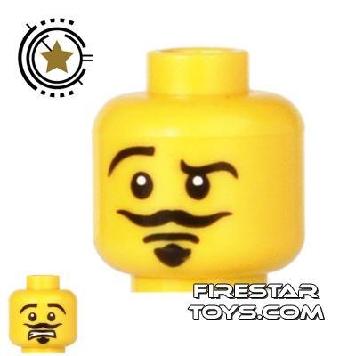 LEGO Mini Figure Heads - Moustache and Goatee