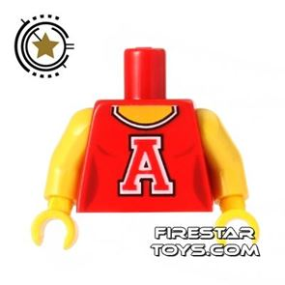 LEGO Mini Figure Torso - Red Cheerleader Top