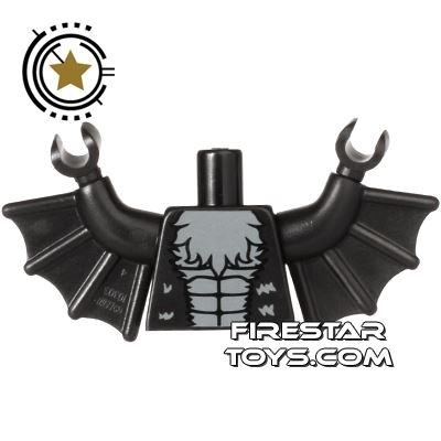 LEGO Mini Figure Torso - Bat Vampire with Wings