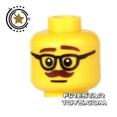 LEGO Mini Figure Heads - Glasses and Moustache