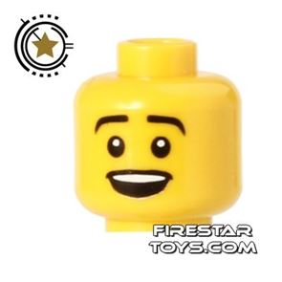 LEGO Mini Figure Heads - Open Smile