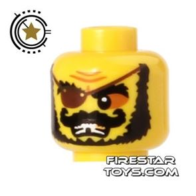 LEGO Mini Figure Heads - Pirate - Eyepatch