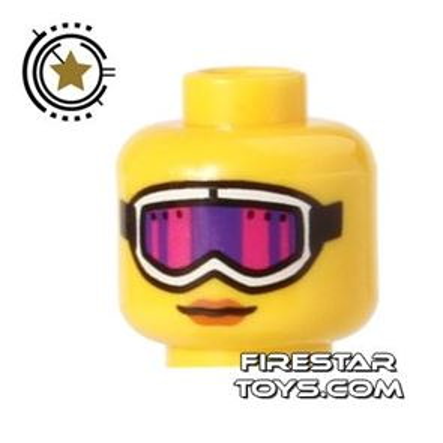 LEGO Mini Figure Heads - Purple Ski Goggles
