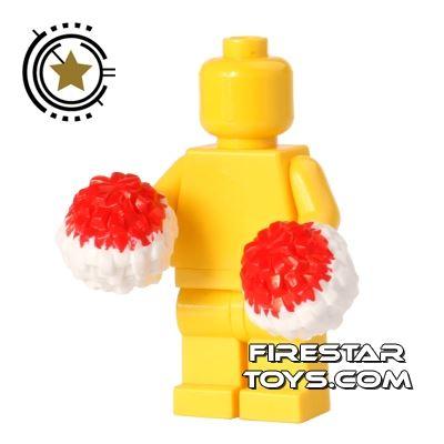 LEGO - Pom Poms - Red and White
