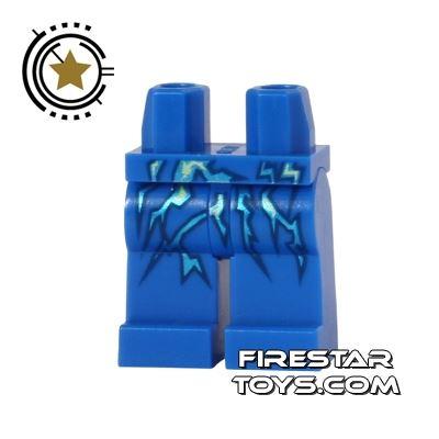LEGO Mini Figure Legs - Ninjago - Blue Lightning Energy
