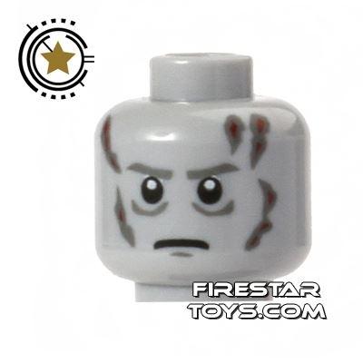 LEGO Mini Figure Heads - Darth Vader - Scars - White Pupils