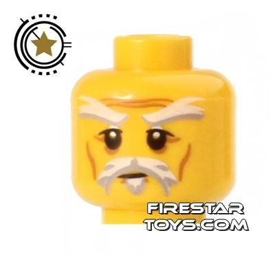 LEGO Mini Figure Heads - White Beard