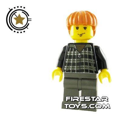 LEGO Harry Potter Mini Figure -  Ron Weasley, Black Jumper