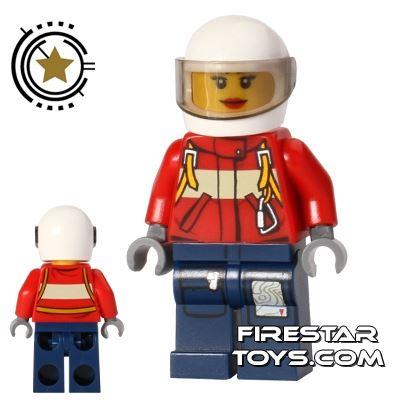 LEGO City Mini Figure - Fire Plane Pilot - Female