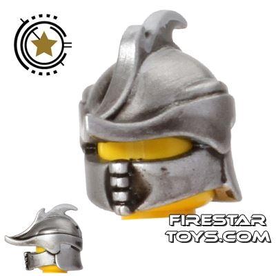 BrickWarriors - Ranger Helmet - Hand Painted Metal Effect