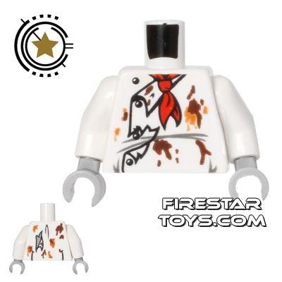 LEGO Mini Figure Torso - Zombie Chef Whites