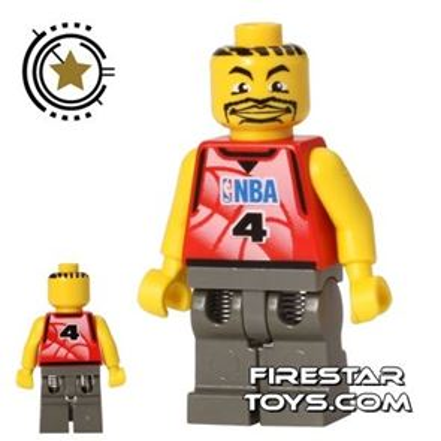LEGO Basketball Player 4 - Dark Gray Legs