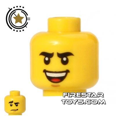 LEGO Mini Figure Heads - Heavy Eyebrows - Smile
