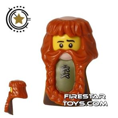 LEGO Hair - Braided Beard and Bald Spot - Large Stomach