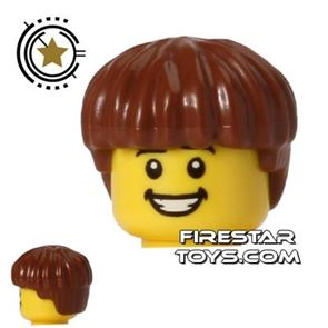 LEGO Hair - Short and Thick - Reddish Brown