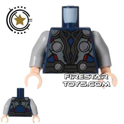LEGO Mini Figure Torso - Thor - Blue Armour