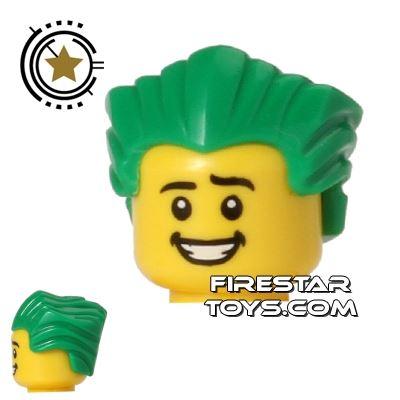 LEGO Hair - Slicked Back - Green