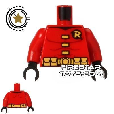 LEGO Mini Figure Torso - Robin - Red Suit
