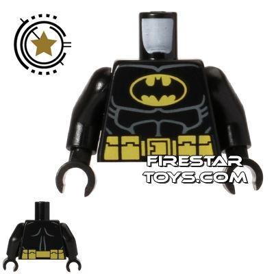 LEGO Mini Figure Torso - Batman - Black Suit - Utility Belt