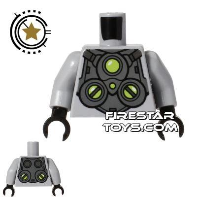 LEGO Mini Figure Torso - Gray Armour - Doc Ock