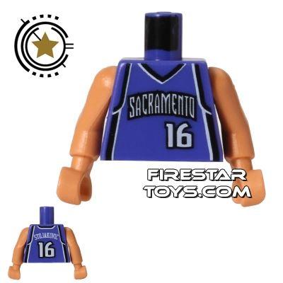 LEGO Mini Figure Torso - NBA Sacramento Kings - Player 16