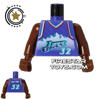 LEGO Mini Figure Torso - NBA Utah Jazz - Player 32