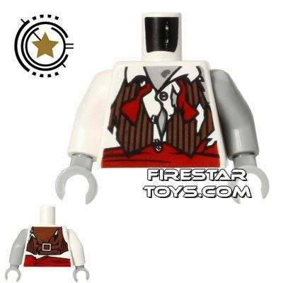 LEGO Mini Figure Torso - Zombie Groom Shirt
