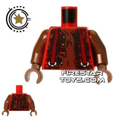 LEGO Mini Figure Torso - Werewolf - Ripped Shirt