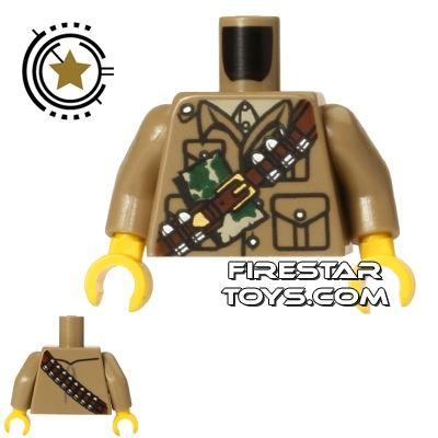 LEGO Mini Figure Torso - Safari Jacket - Ammo Belt