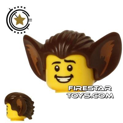 LEGO Hair - Bat Ears - Dark Brown