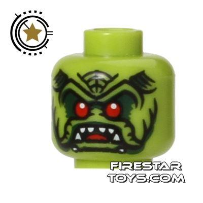 LEGO Mini Figure Heads - Alien Avenger