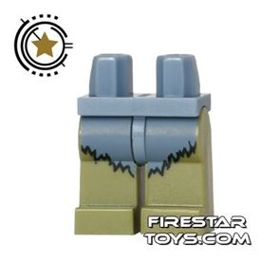 LEGO Mini Figure Legs - Cyclops - Sand Blue Fur