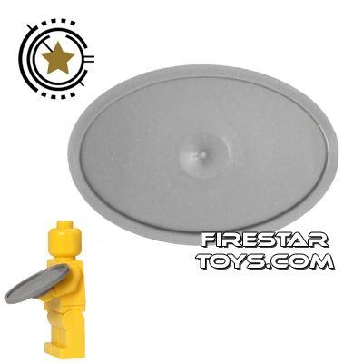 LEGO - Oval Tray - Flat Silver