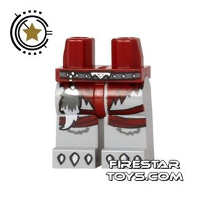 LEGO Mini Figure Legs - Wolf Claws - Red Loincloth