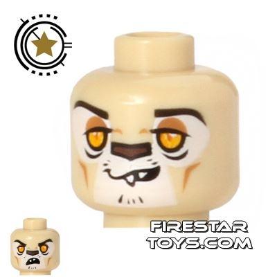 LEGO Mini Figure Heads - Lion - Leonidas