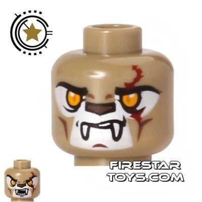 LEGO Mini Figure Heads - Lion - Longtooth