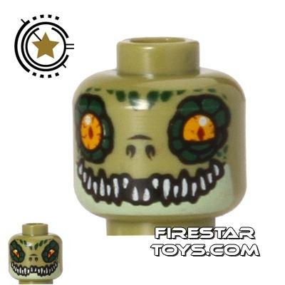 LEGO Mini Figure Heads - Crocodile - Crawley