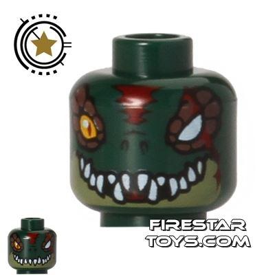 LEGO Mini Figure Heads - Crocodile - Cragger
