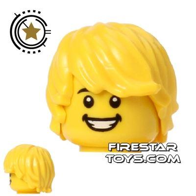 LEGO Hair - Choppy - Yellow