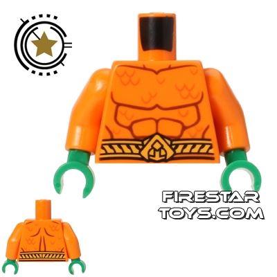 LEGO Mini Figure Torso - Aquaman - Muscles and Scales