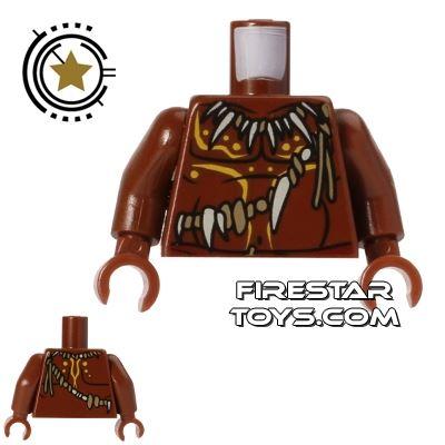LEGO Mini Figure Torso - Cannibal - Bone Necklace