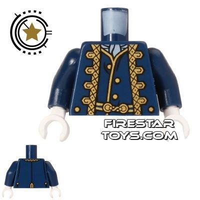 LEGO Mini Figure Torso - Gold Timmed Jacket