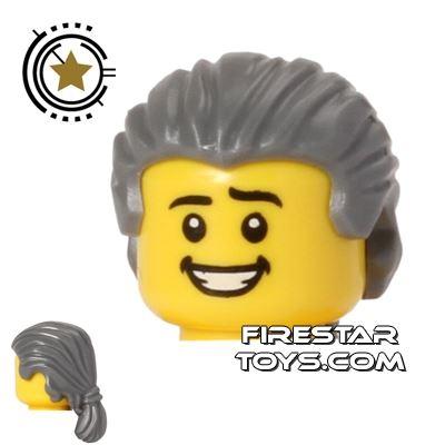 LEGO Hair - Short Ponytail - Dark Blueish Gray