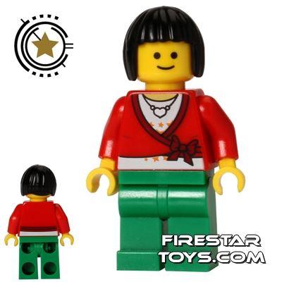 LEGO City Mini Figure - Heart Necklace - Black Bob